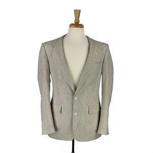 DIOR $2100 Mens Two Button Silk Blazer